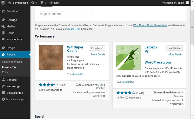 Wordpress 4.0: Plugins viel übersichtlicher