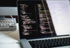 web development, writing js code, office, laptop